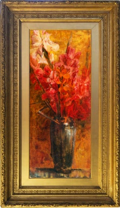 'Gladioli in a Chinese Vase', Woman Artist, Aesthetic Still Life