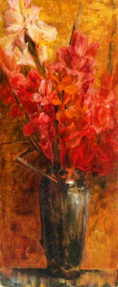 Aesthetic Still Life, 'Gladioli in a Chinese Vase', Woman Artist