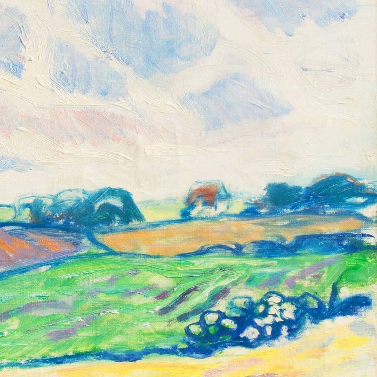 Spring Landscape - Expressionist Painting by Ejnar R. Kragh