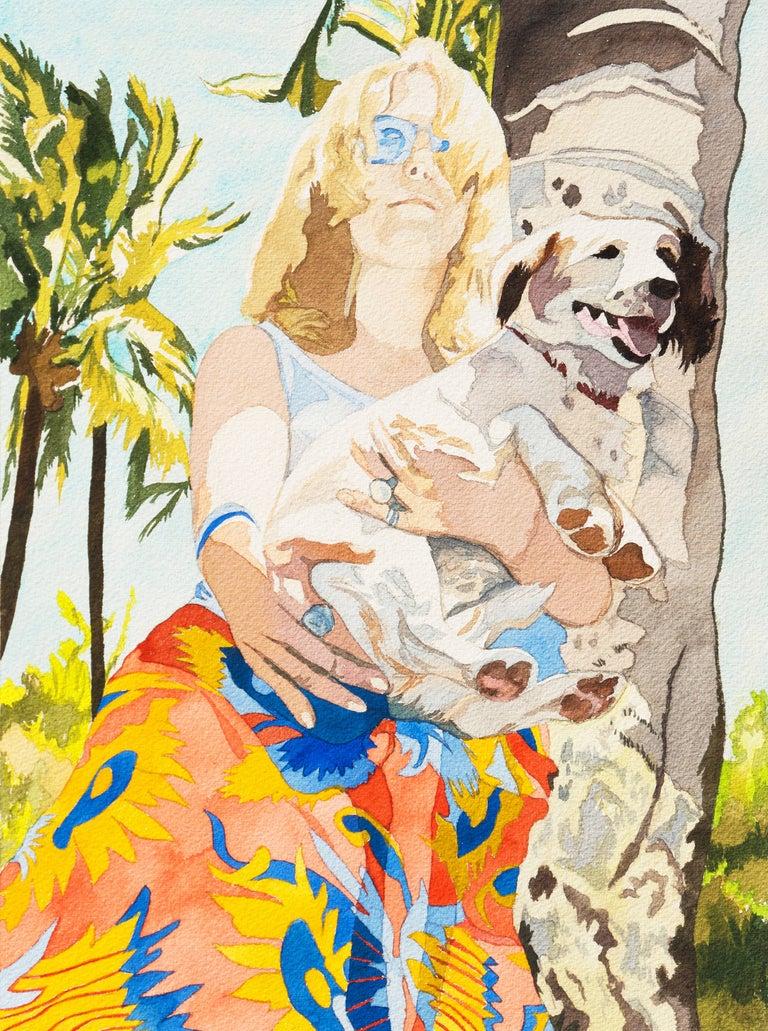 Nancy Maass Mosen Figurative Art - 'Rodeo Drive', Beverly Hills, California, San Francisco Museum of Art