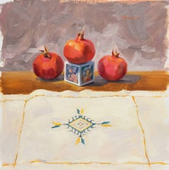 'Still Life with Pomegranates', California woman artist, Carmel Art Association