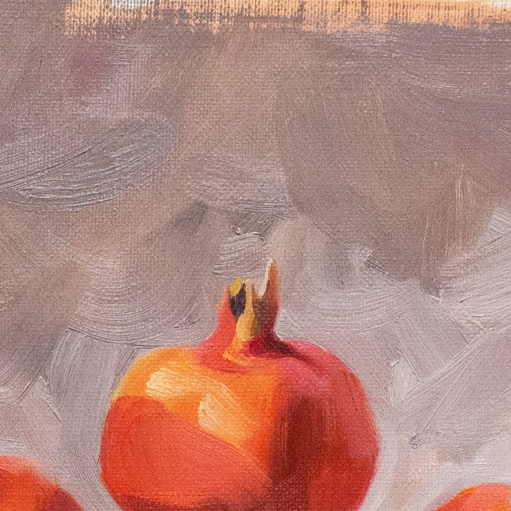 'Still Life with Pomegranates', California woman artist, Carmel Art Association For Sale 1