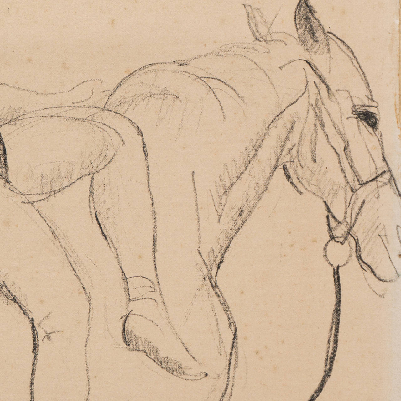 'Entente', French Post-Impressionist Equestrian Figural Drawing; Salon d'Automne For Sale 2