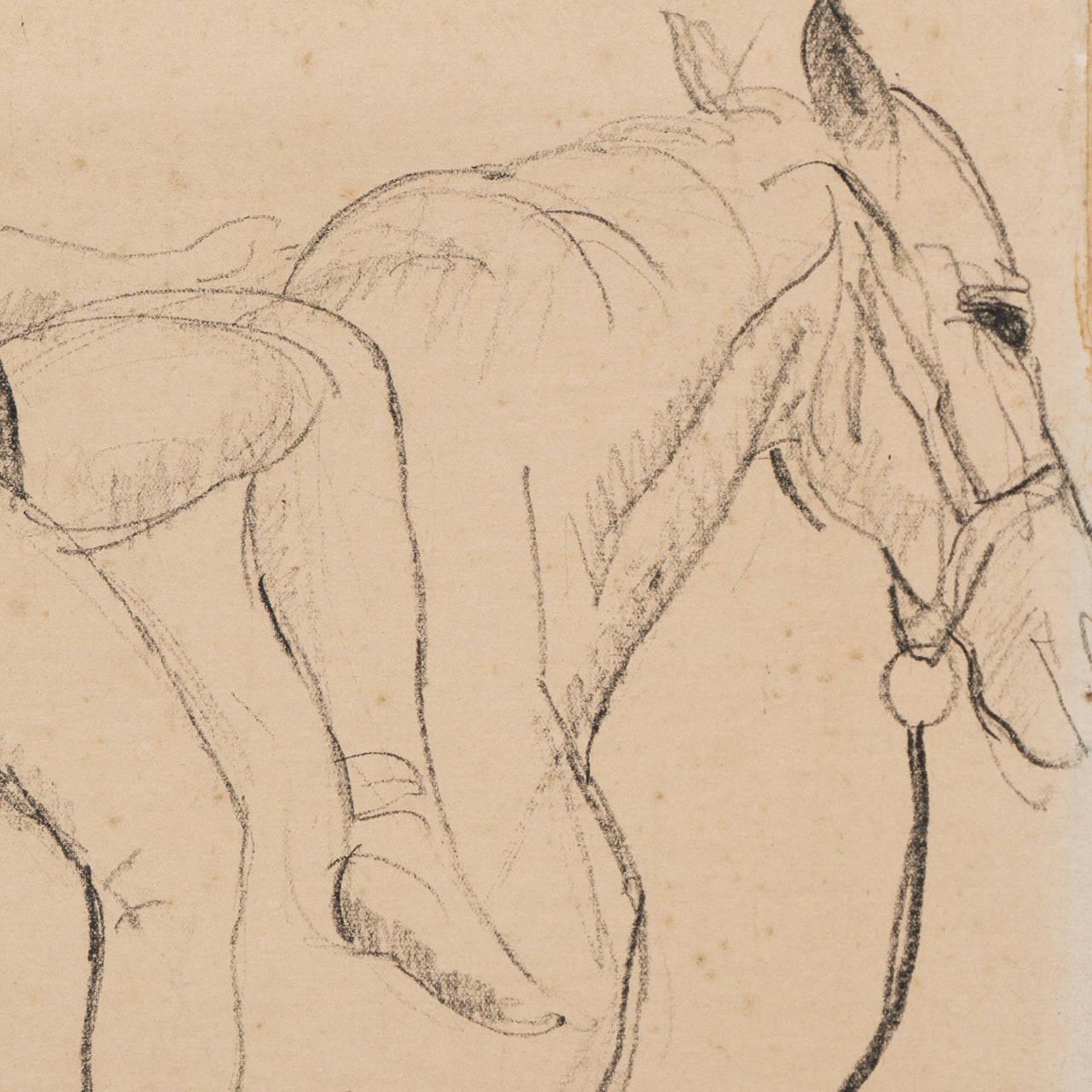 Entente   (Horse, Animal, French, framed) For Sale 2