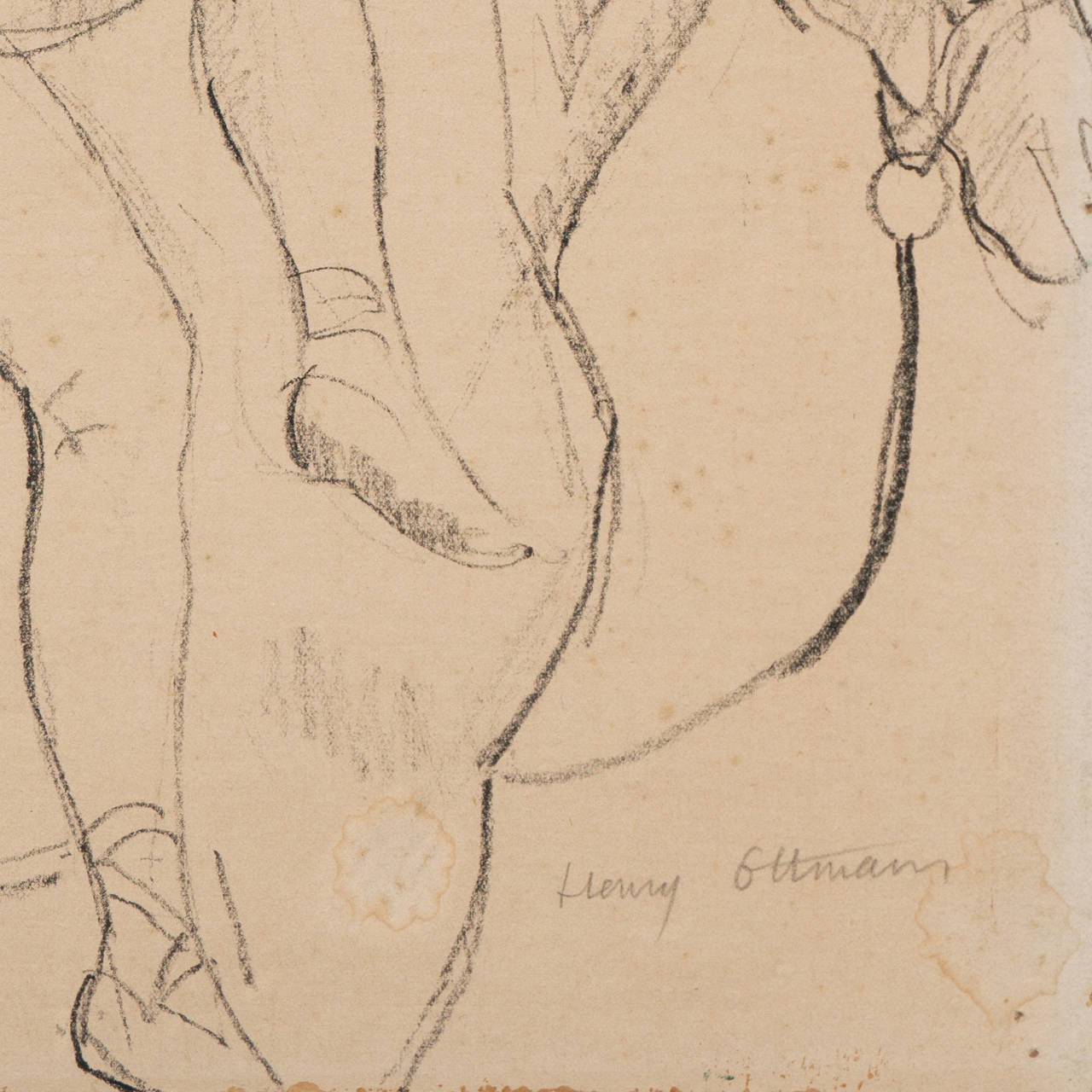 Signed lower right, 'Henry Ottmann' and painted circa 1915.  Born in 1877 in the Loire Valley, Henri Ottmann first exhibited in the Salon de la Libre Esthétique in Brussels in 1904 and, beginning in 1905, at the Salon d'Automne, the Société