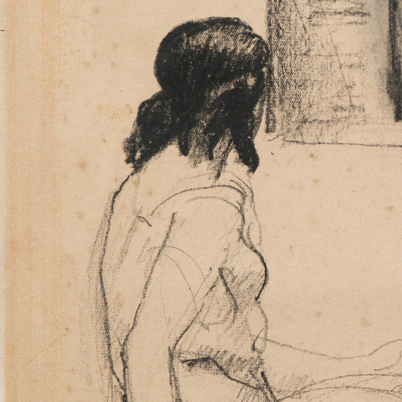 'Entente', French Post-Impressionist Equestrian Figural Drawing; Salon d'Automne For Sale 5