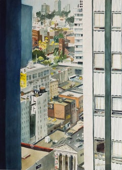 'San Francisco, View from the 24th Floor' California Bay Area, Virginia artist
