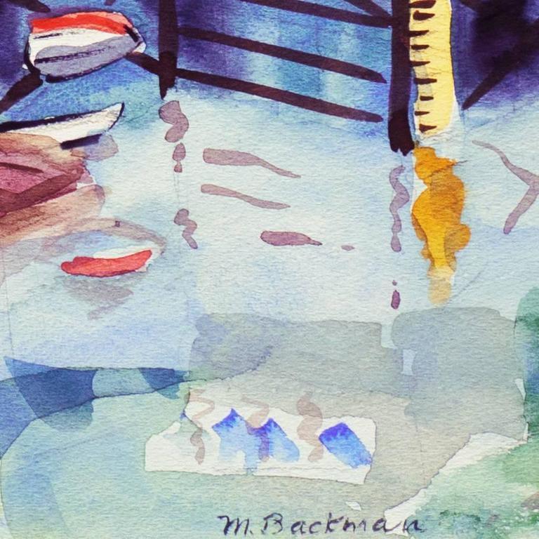 'Fisherman's Wharf, Monterey', Modernist California Artist, Crocker Art Museum For Sale 3