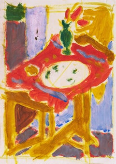 Interior with Still Life   (Post-Impressionism, Modernism, Mid-century)