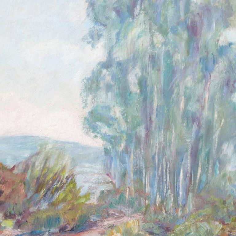 'River Landscape', American Impressionist, Carmel Art Association, Plein Air - Painting by Mae Hill Gilbert