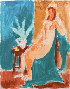 'Seated Nude', California Post-Impressionist, Louvre, Académie Chaumière, LACMA