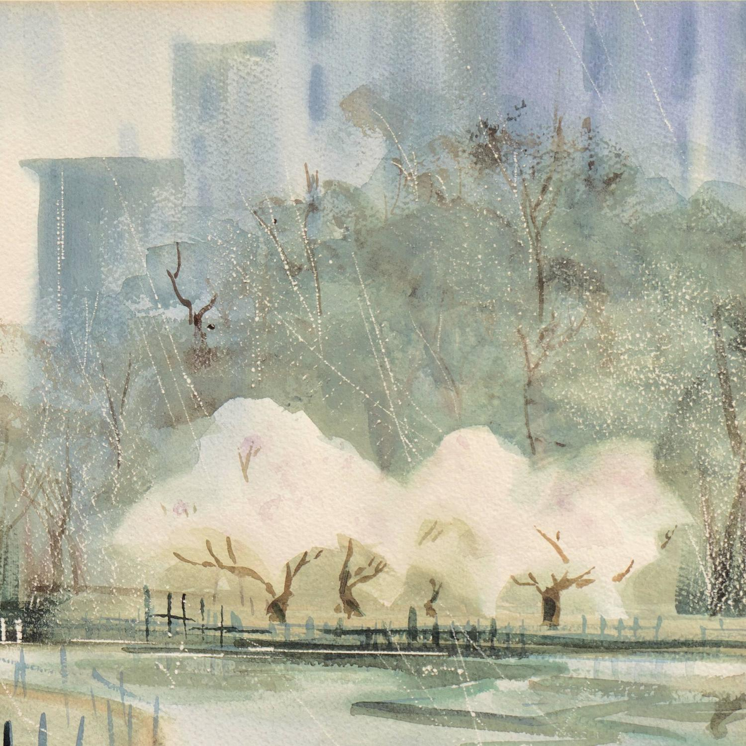 Professional Guaranteed House Painting Western Springs: Central Park In Spring For Sale At 1stdibs
