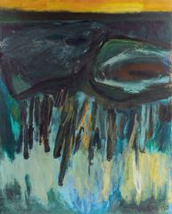 Large Abstract in Blue and Gold