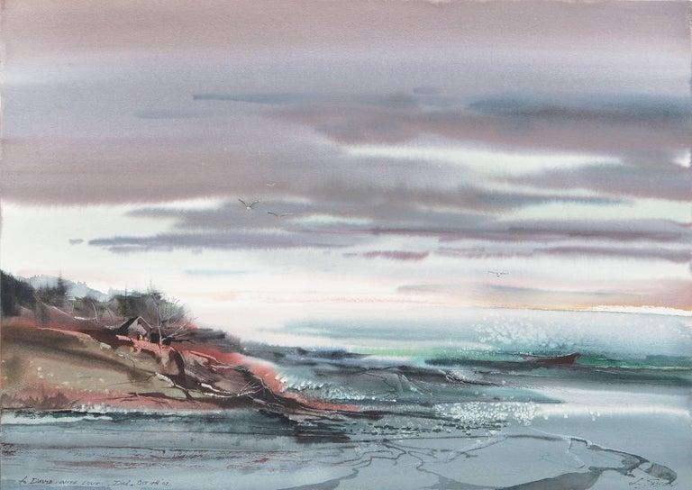 Laurence Sisson Landscape Art - 'Maine Coast', American Watercolor Society, Museum Fine Arts, Boston
