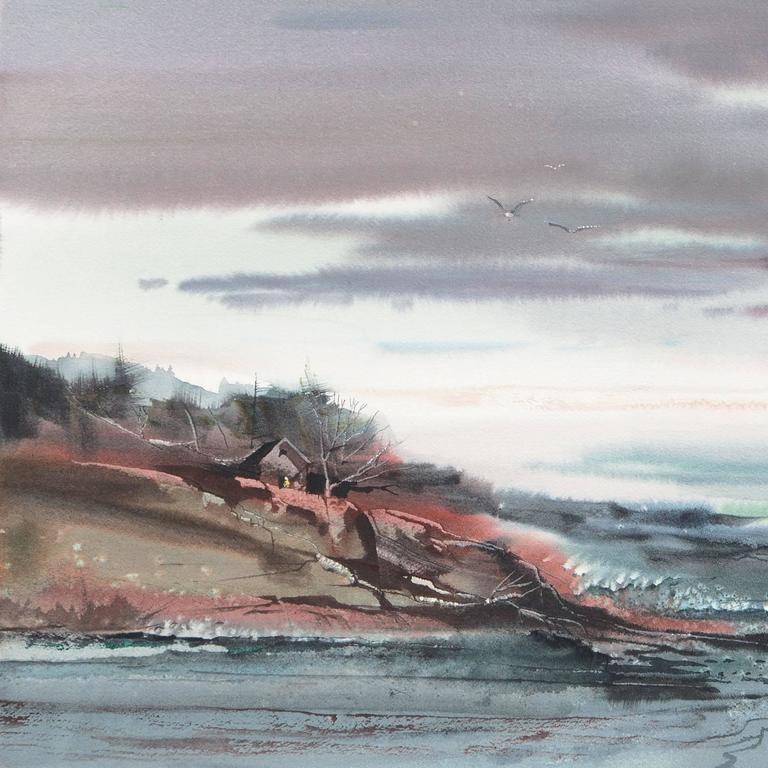 'Maine Coast', American Watercolor Society, Museum Fine Arts, Boston For Sale 1