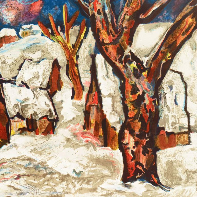 French Post-Impressionist, 'Snow Covered Village', School of Paris For Sale 1