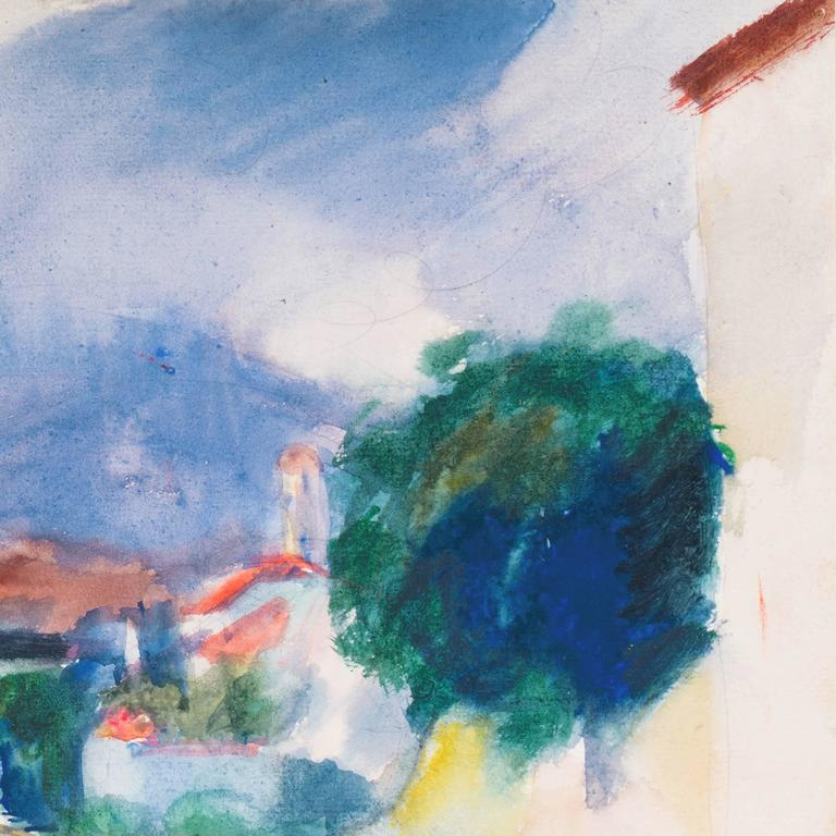 'Rain in Provence', French Post-Impressionist artist, MAM Paris For Sale 1