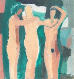 Large Danish Post-Impressionist Figural, 'The Three Graces'