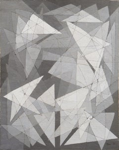 Abstract in Silver and Grey