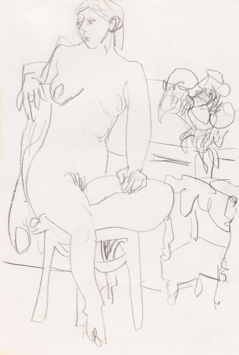 Victor Di Gesu - California Post-Impressionist Reclining