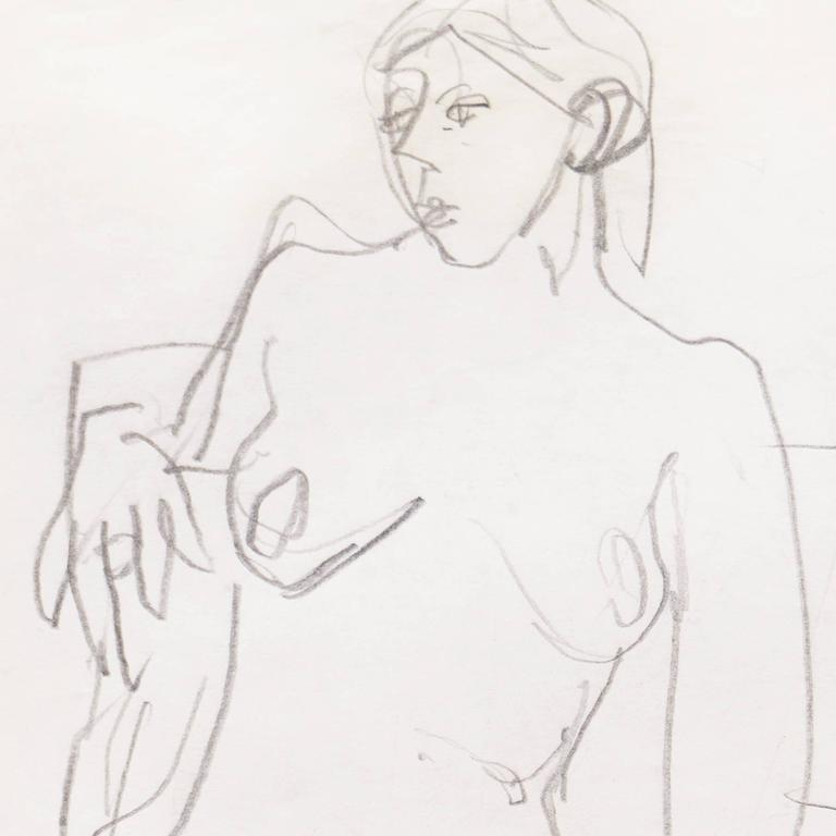 California Post-Impressionist, 'Seated Nude', Louvre, Académie Chaumière, LACMA For Sale 2