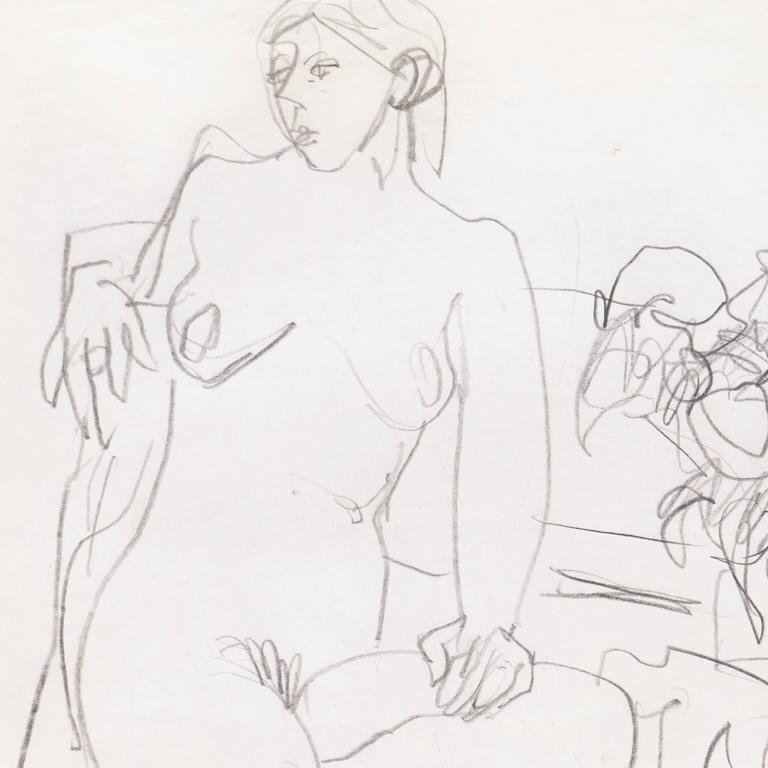 California Post-Impressionist, 'Seated Nude', Louvre, Académie Chaumière, LACMA For Sale 1