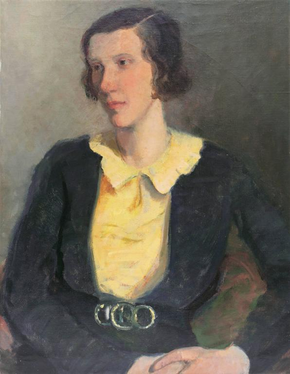 Unknown Portrait Painting - Portrait of a Young Woman