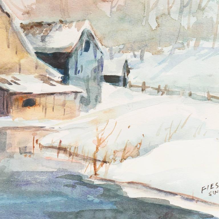 Barn in Winter For Sale 1