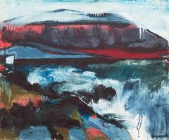 Coastline   (Landscape, California, Woman Artist, Mid-century, Expressionist)