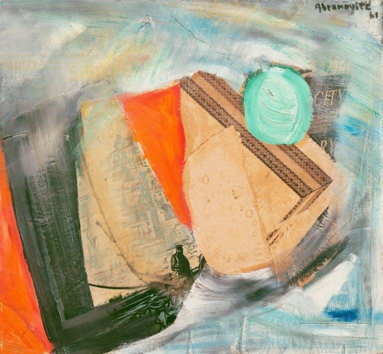 Albert Abramovitz Abstract Painting - 'Abstract in Seafoam and Coral', Salon d'Automne, Académie Chaumièr, MOMA