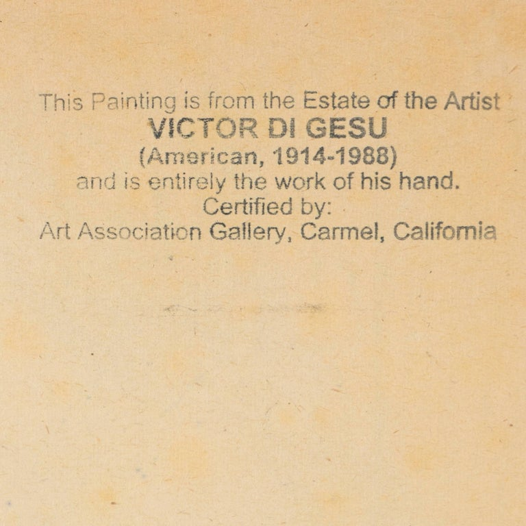 California Post-Impressionist Figural Drawing 'Seated Nude with Mandolin'; LACMA For Sale 7