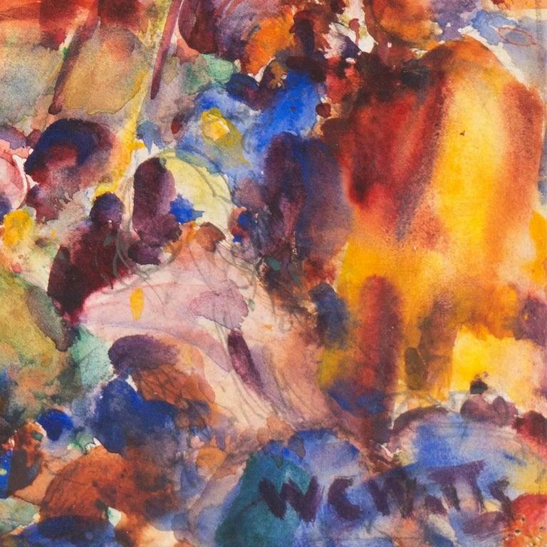 'Burmese Water Pageant', California Post-Impressionist, PAFA, AIC, Carmel - Art by William Clothier Watts