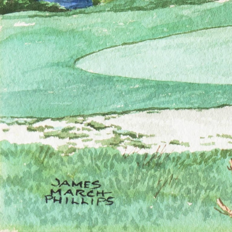 Playing the 17th Hole, Pebble Beach - Art by James March Phillips