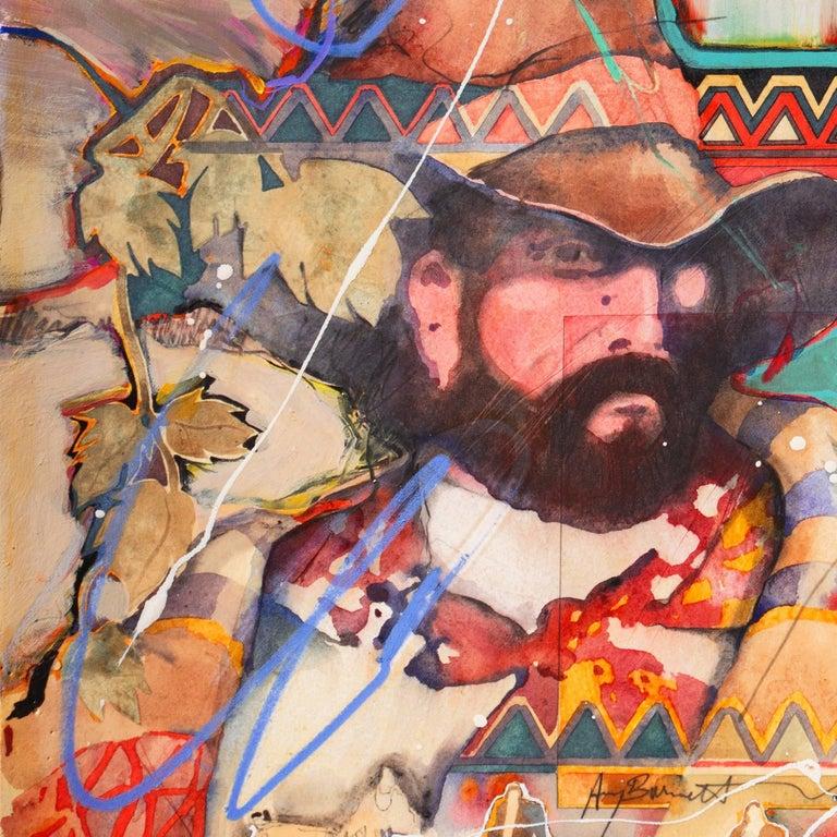Portrait with Figures on Horseback For Sale 1