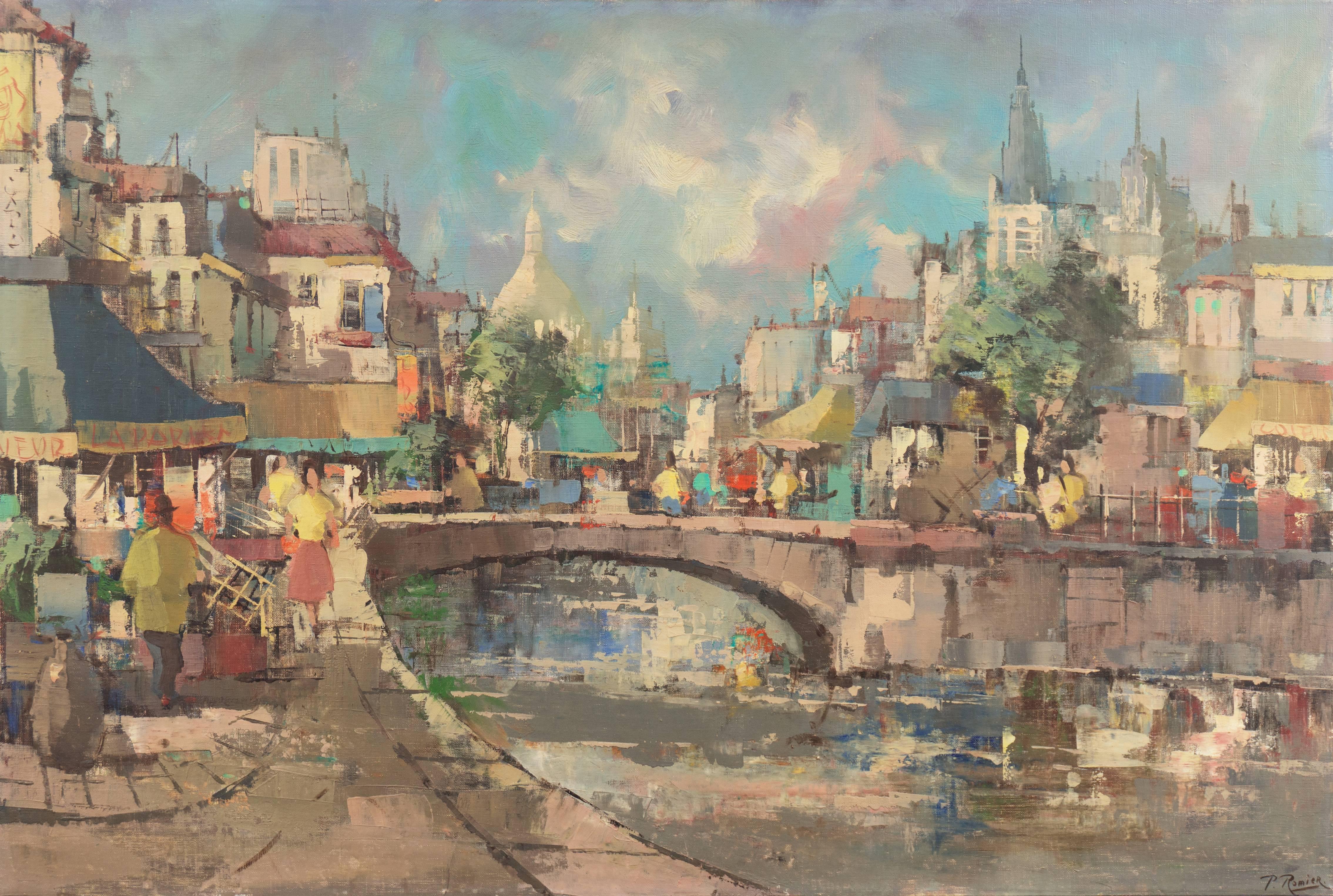 'Montmartre and Sacre Coeur', Paris Street Scene
