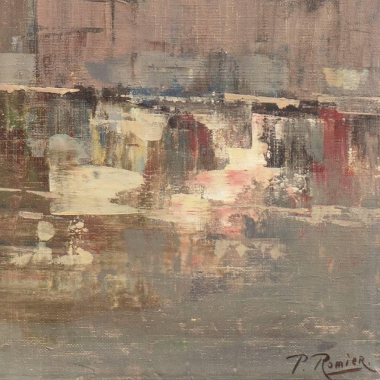 'Montmartre and Sacre Coeur', Paris Street Scene - Painting by Paul Romier