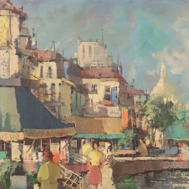 'Montmartre and Sacre Coeur', Paris Street Scene For Sale 1