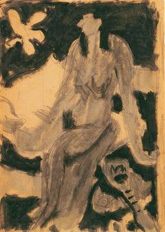 Seated Nude with Mandolin