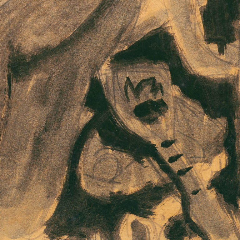 Victor Di Gesu - Seated Nude with Mandolin at 1stdibs