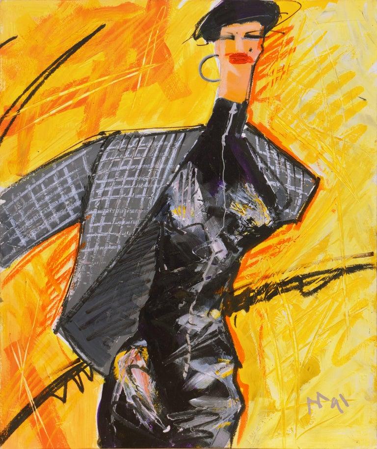 Isaac Mizrahi Figurative Painting - Fashion Able I