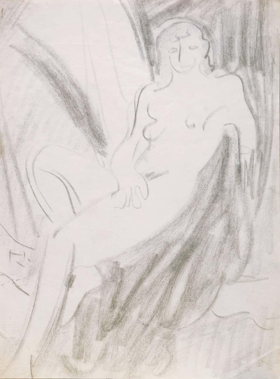 Victor Di Gesu - Seated Nude, California Post