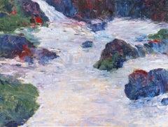 'Spring Rain', Large American Impressionist Oil Landscape, ASL, New York,