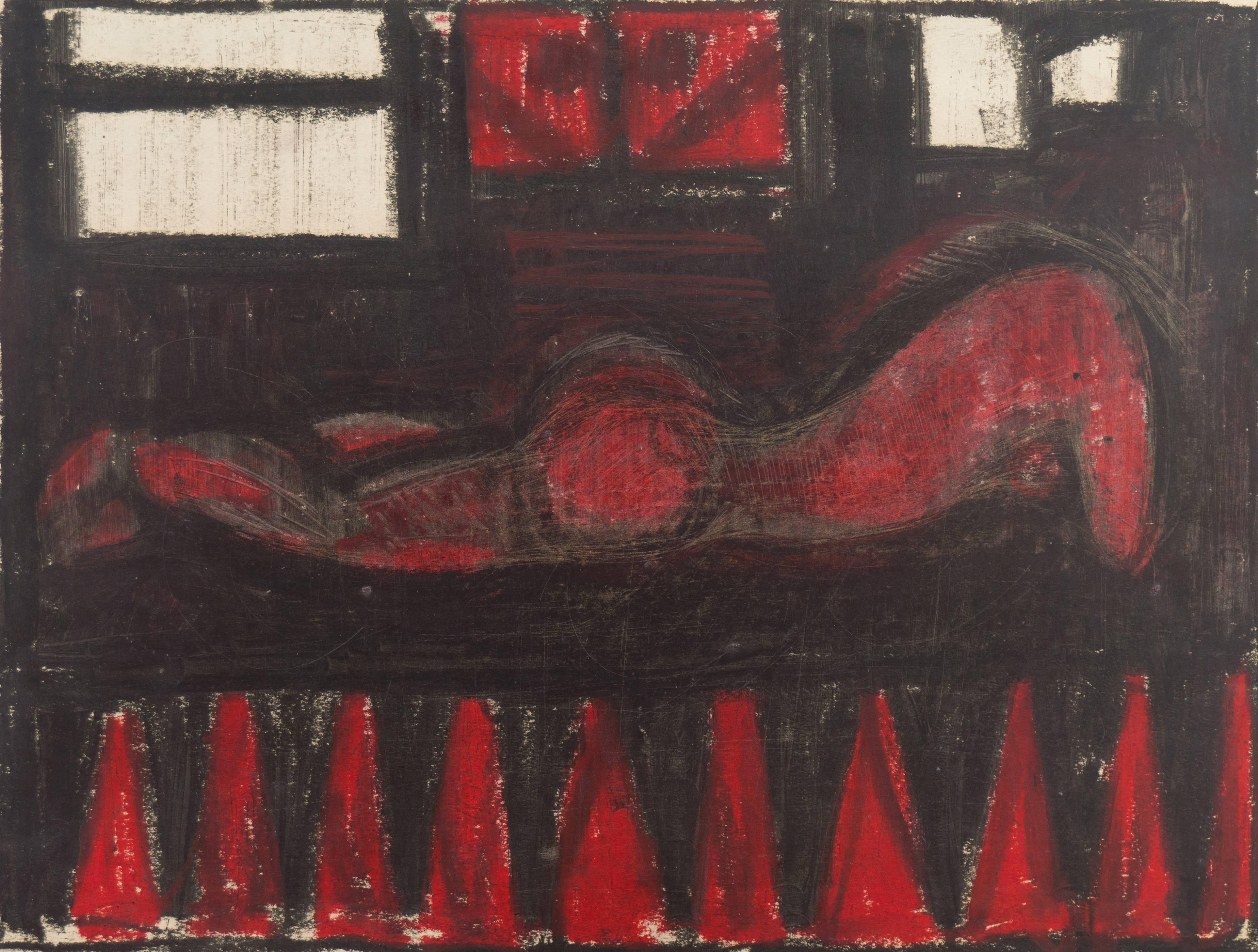 'Woman in Red', California Modernist, San Francisco Bay Area Modernism, Thiebaud