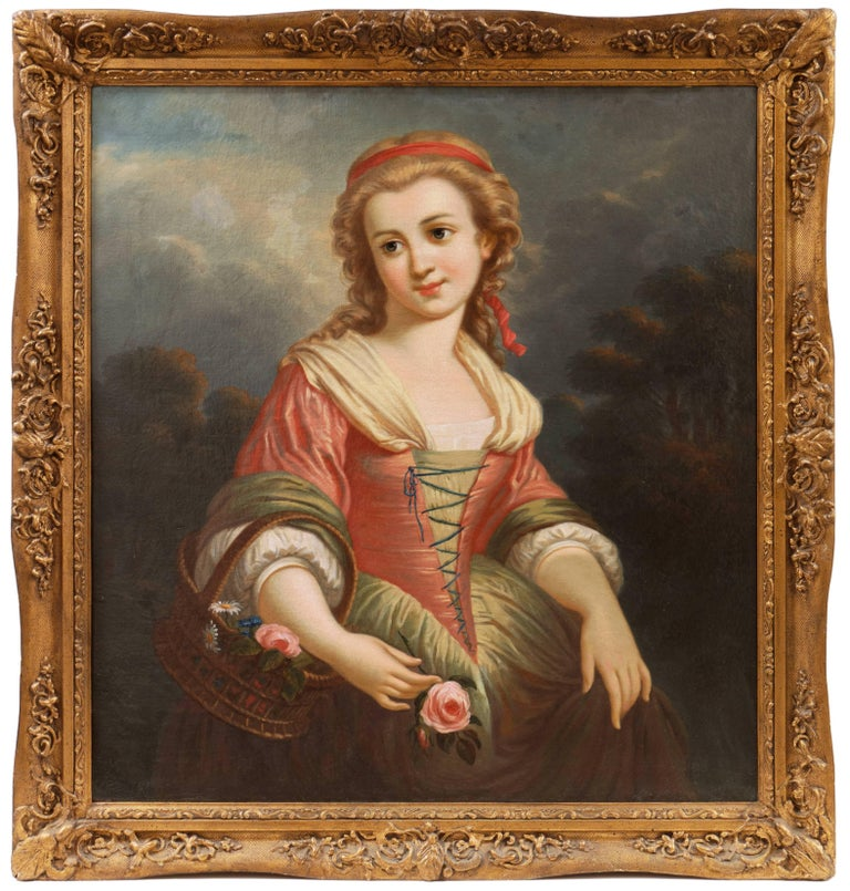 Girl with a Flower Basket