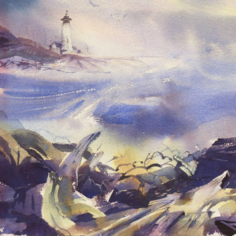 'After the Storm', Impressionist Seascape For Sale 1
