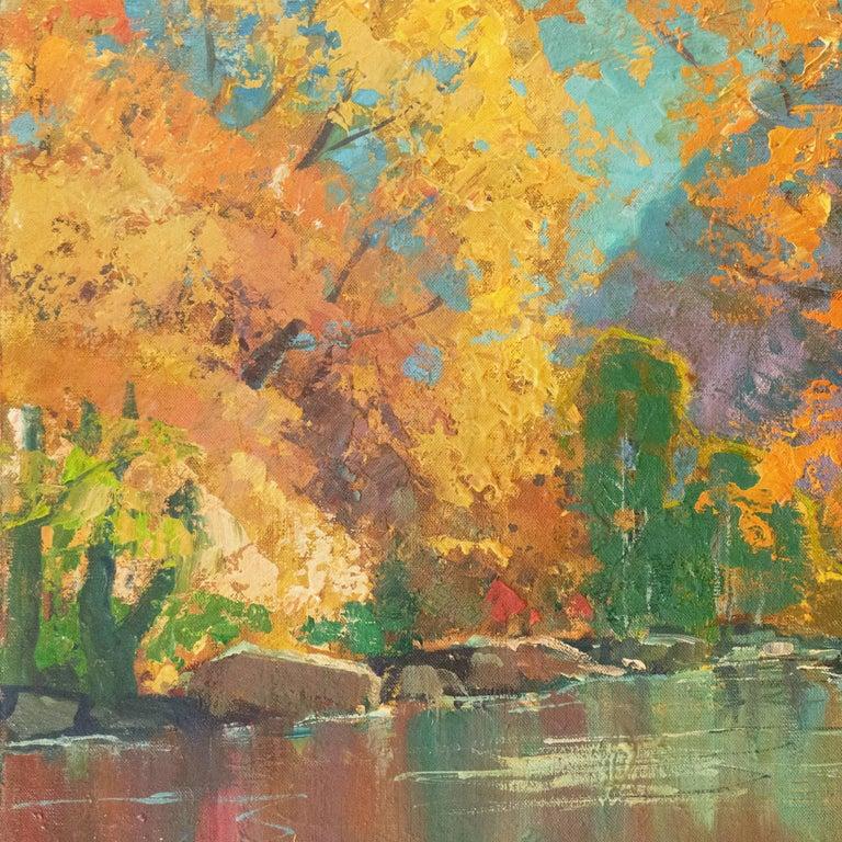 Fall Colors (River, Post-Impressionism