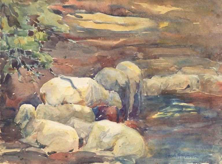 Sarah Hobson Animal Art - 'Sheep Resting', Art Institute Chicago, Woman Artist