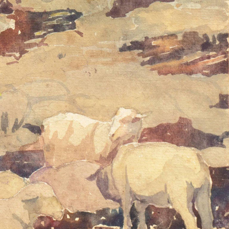 'Landscape with Sheep Grazing', Art Institute of Chicago, Woman Artist For Sale 2