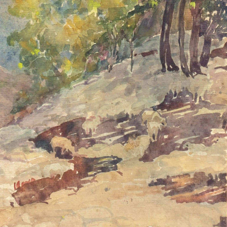 'Landscape with Sheep Grazing', Art Institute of Chicago, Woman Artist For Sale 1
