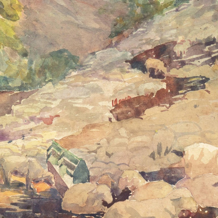 'Landscape with Sheep Grazing', Art Institute of Chicago, Woman Artist For Sale 3